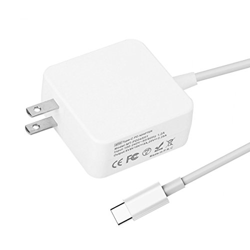 [USB C Charger] 45W USB Type-C Wall Charger Power Adapter with Power Delivery for MacBook Pro,Nintendo Switch, Pixel C,Moto Z,Huawei Mate 10, Mate Book,Samsung Notebook and More (White)