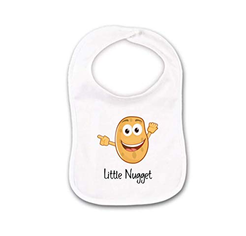 Funny Baby Bib or Burp Cloth With Sayings Little Nugget, ()