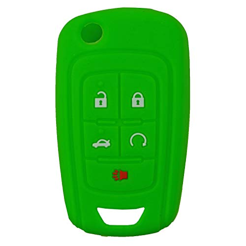- QualityKeylessPlus Protective Rubber Silicone Cover for Your 5 Button GM/Chevy / GMC/Buick Keyless Entry Flip Key Remote