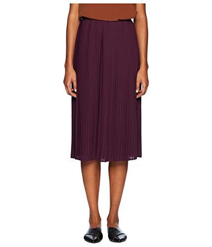Eileen Fisher Raison Womens Pleated Straight Skirt Purple -