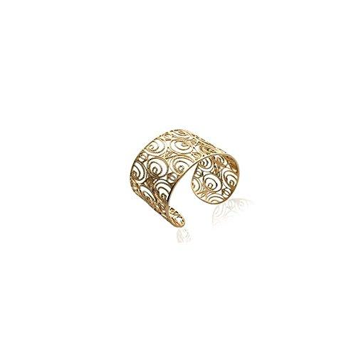 Bracelet jonc plaqué or dentelle en filigrane, collection Arabesque