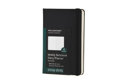 Moleskine 2014-2015 Weekly Planner, 18 Month, Pocket, Black, Hard Cover (3.5 x 5.5) (Moleskine Diaries)