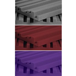 Auralex Acoustics Studiofoam Metro Acoustic Absorption Foam, 2'' x 24'' x 48'', 12-Panels, Charcoal