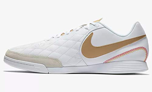 - Nike Men's LegendX 7 Academy IC Shoes 10R (White/Metallic Gold) (8)