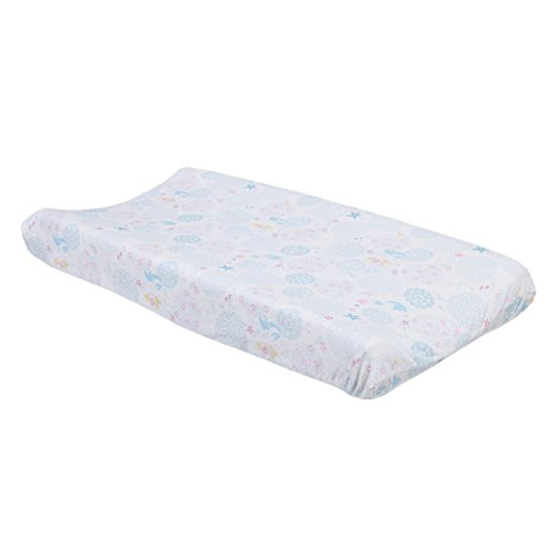 Disney Ariel Sea Princess Changing Pad Cover, White/Blue/Pink/Gold ()