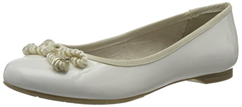 22109 White Patent 123 White Women's Ballet Flats Tozzi Marco HawqPP