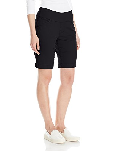 Jag Jeans Women's Petite Ainsley Pull on Bermuda Short, Black, 4P