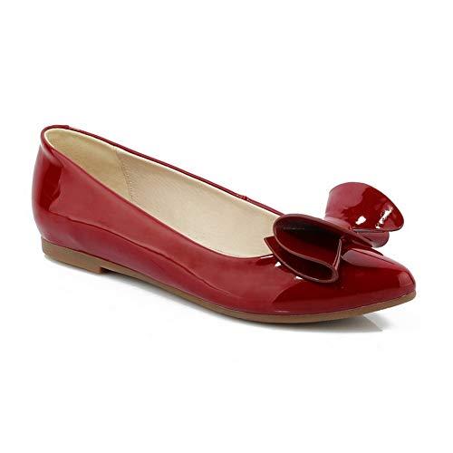 Red Sandales 36 EU BalaMasa Rouge 5 Compensées APL10826 Femme gxqfX