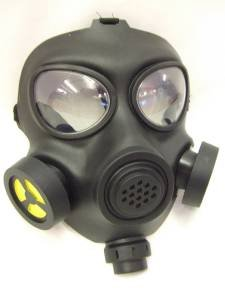 Unisex Adult Black Gas Mask with Respirator-Look Halloween Costume Accessory ()