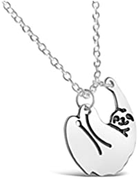 Rosa Vila Tiny Sloth Necklace, Sloth Friendship Necklace, Animal Necklaces for Women and Girls