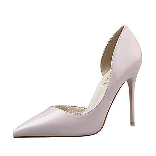 PU Yellow ZHZNVX Red Fall Polyurethane Women's Yellow Heel Pink Comfort Heels Shoes Stiletto zrvqEWOcr