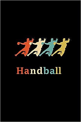 414a6a426d Handball: A5 Notizbuch Kariert Für Handballspieler   Vintage Retro Handball  Notizblock   Handballer & Handballerinnen Geschenk (German Edition)  (German) ...