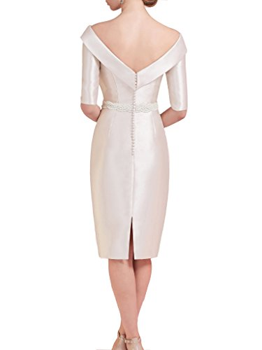 Cocktail Dressyu the Bride 1 Dresses of Sheath 2 Satin Ivory Sleeve Simple Mother xqZUAxST