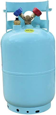 Mastercool (67010) Blue DOT R134A Recovery Refrigerant CylinderFloat Switch and 1/2 Acme Connection - 30 lb. Capacity