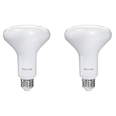Philips LED Dimmable BR30 Light Bulb: 650-Lumen, 5000-Kelvin, 8-Watt (65-Watt Equivalent), E26 Base, Daylight, 2-Pack
