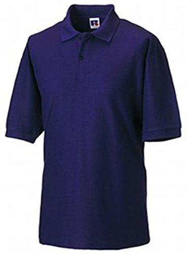 Jerzees Pique Polo Shirt M Purple