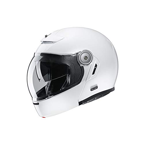 Motorradhelm HJC V90 Weiss/WHITE, Weiss, M