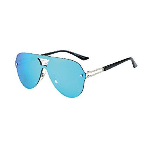 Rojo Color Vintage Playa Simple Gafas Sol Caja QZ Colorido Luz Personalidad Azul De HOME Polarizada Moda De Grande HBqZag