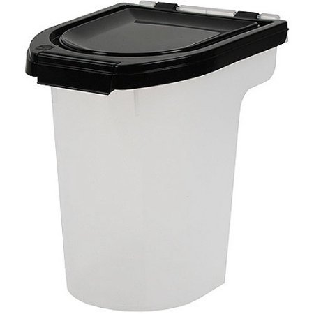 8 Qt Airtight Pet Food Storage 6 Pounds in Black