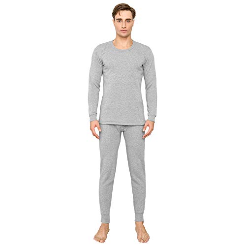 Union Snowboard Pants (MASS21 Men's Mid Weight Double-Layer Thermal Union Suit Grey 3XL)