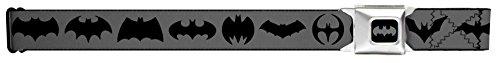 Bat Logo Transitions Gray/black Seatbelt Belt
