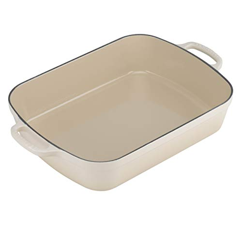 - Le Creuset Signature Cast Iron Rectangular Roaster, 5.25-Quart, Dune