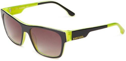 Diesel DL00125705B Wayfarer Sunglasses,Black,57 - Diesel Sunglasses Mens