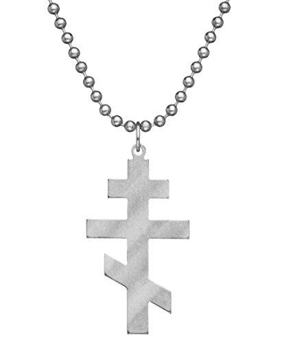 GI JEWELRY - Genuine U.S. Military Issue Orthodox Cross With Beaded Chain - 24
