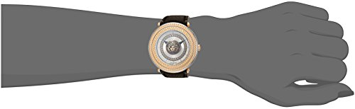 Versace 'V-Metal Icon' Swiss Quartz Stainless Steel and Leather Casual Watch, Color:Brown (Model: VQL010015)
