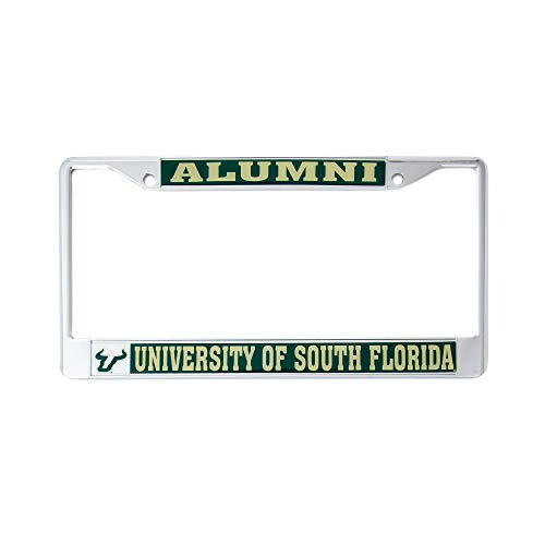 University Of Florida License Plate Frames - Desert Cactus University of South Florida Alumni Metal License Plate Frame for Front Back of Car Officially Licensed USF Bulls (Alumni)