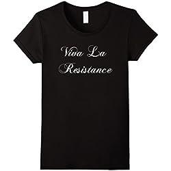 Womens Viva La Resistance T-shirt French Resist Anti Trump Shirt Medium Black