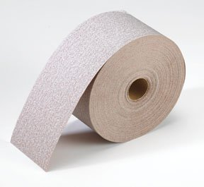 Norton A275 No-Fil Adalox Abrasive Roll, Paper Backing, Pressure Sensitive Adhesive, Aluminum Oxide, Waterproof, Roll 2-3/4'' Width x 25yd Length, Grit 80 (Pack of 1) by Norton Abrasives - St. Gobain
