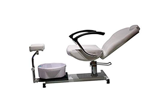 Salon Style Nail Pedicure Stool Pedicure Chair Pneumatic, Adjustable, Rolling Salon Furniture & Equipment Pedicure Station Foot Massage Chair (white)
