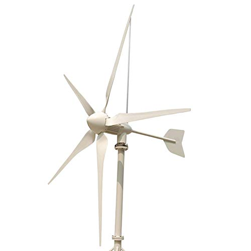 Wind Turbine Electrical Generator - Tumo-Int 3000 Watts 5 Blade Wind Turbine Generator, Equipped with Solar and Wind Hybrid Controller and Dump Load (48V)