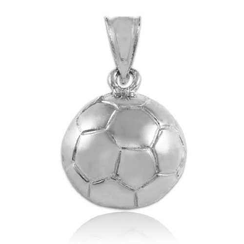 (Sports Charms 925 Sterling Silver Soccer Ball Pendant)