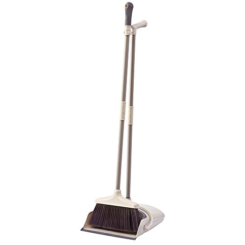 Upright Dust Pan Broom (Broom and Dustpan Set Long Handle Dustpan and Lobby Broom Combo Upright Grips Sweep Set with Broom)
