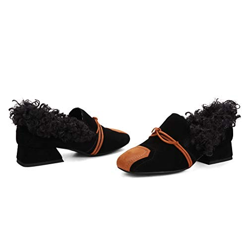 Black Comfort Colors Fringed Pumps Assorted AdeeSu Womens Urethane SDC06112 Shoes qwTIn1z