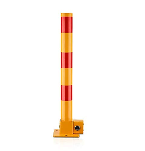 Rocwing - Tarea Pesada Bolardo Plegable del Metal Recto con la Cerradura del Cilindro para El estacionamiento de la Seguridad de la Calzada