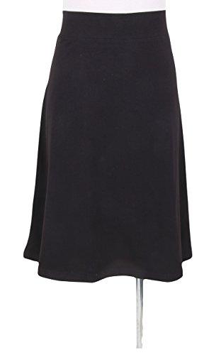 - Kiki Riki Women's Cotton A-line Spandex Skirt Black Large