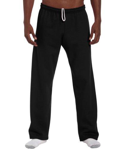 Freizeithose mit offenem Beinabschluss XL,Black