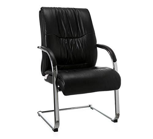 Cadeira Aproximacao Will Pvc/Couro Natural Preto
