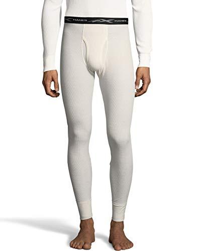 Hanes Mens Waffle Knit Thermal Pant, 3XL, Natural