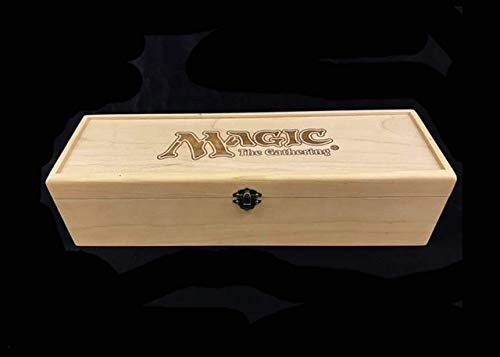 Magic the Gathering Engraved Deck Box with Hinges & Latches-15 1/2 x 4 3/4 x 4 with laser cut dividers