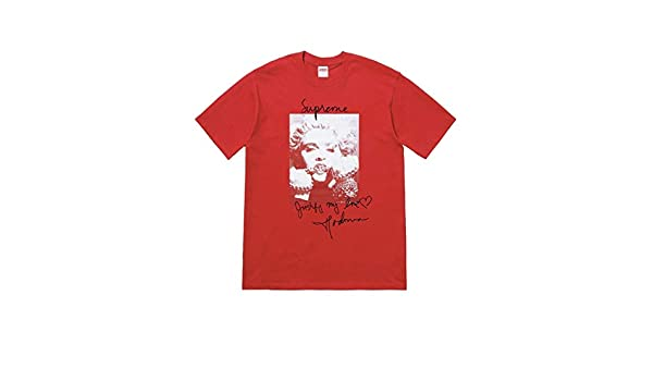 54d696ed4 Amazon.com: SupremeNewYork Supreme Madonna Tee T-Shirt Red FW18 100% Authentic  Real Sold Out Rare: Clothing