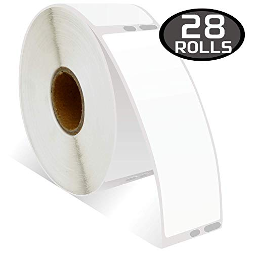 28 Rolls DYMO 30252 Compatible 1-1/8 x 3-1/2(28mm x 89mm) Self-Adhesive Address Labels,Compatible with Dymo 450, 450 Turbo, 4XL and Many More