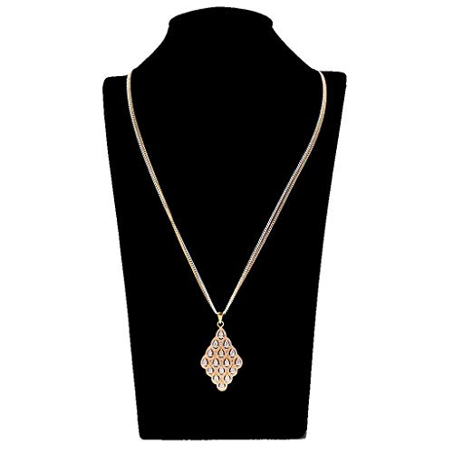 Wedding Crystal Diamond Pendant Necklace Bridal Party Prom Fancy Dress Accessory Necklace Jewelry Crafting Key Chain Bracelet Pendants Accessories Best| Color - Gold