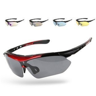 Signstek Outdoor Sport Sonnenbrille Multi Sportbrillen austauschbar 5 Linsen unzerbrechlich Polarized UV400 (Kunststoff)