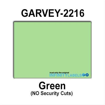 180,000 Garvey 2216 Compatible Green General Purpose Labels for G-Series 22-66, G-Series 22-77, G-Series 22-88 Price Guns. Full Case + 20 Ink Rollers. NO Security cuts. ()