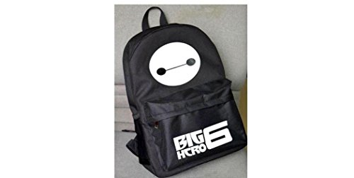 Big Hero 6 White Baymax on Black Full Size School Backpack by Big Hero 6