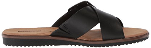Women's Heather Flat Clarks Leather Sandals Kele Black AqfWdaBx